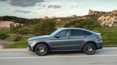 Mercedes-AMG GLC 43 Coupe 2019 facelift  side