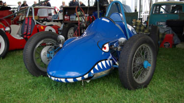 A 1955 Cousy-Triumph Formula 3 car with a 500cc engine. Looks mean!