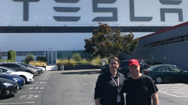 Tesla Factory Tour - outside factory