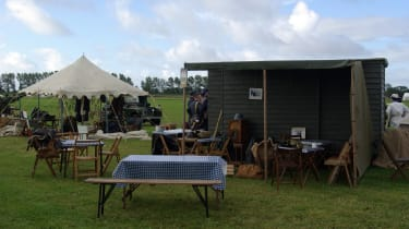 One of the many scenes set up around the festival to add wartime flavour to the event.