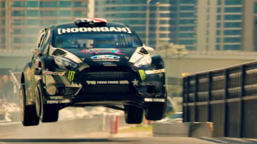 Ken Block Gymkhana 8 Fiesta jump
