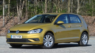 Honda Civic vs Volkswagen Golf vs Renault Megane - golf front quarter