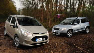 Ford B-MAX and Skoda Yeti front static