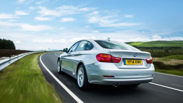 BMW 4 Series Gran Coupe 430d xDrive - rear tracking