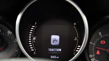 Traction control dashboard message
