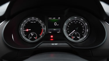 skoda octavia estate dashboard instruments dials