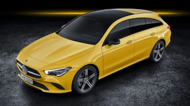 Mercedes CLA Shooting Brake - studio front above