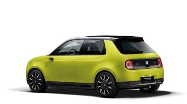 Honda e rear yellow