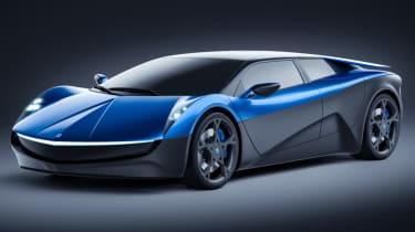 Elextra EV four-seat supercar front
