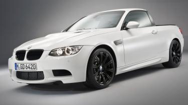 "When is an April Fools' Day joke not an April Fools Day joke, When it's a&nbsp;<a href=""https://www.autoexpress.co.uk/bmw/3-series/34657/bmws-new-m3-pick"">BMW M3 pick-up</a>."