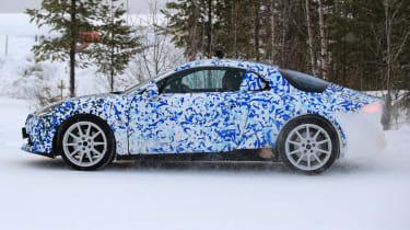 Renault Alpine spy shot side