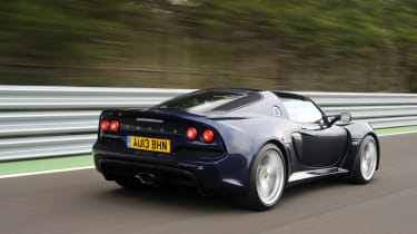 Lotus Exige S Roadster rear action