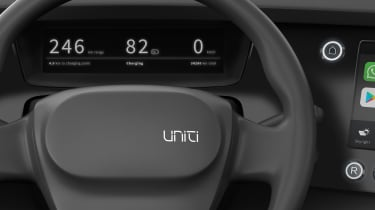 Uniti One EV - steering wheel