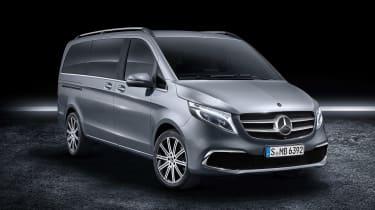 Mercedes V-Class facelift - studio grey front
