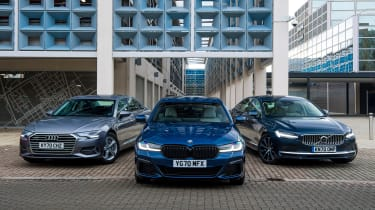 BMW 5 Series vs Audi A6 vs Volvo S90 - main