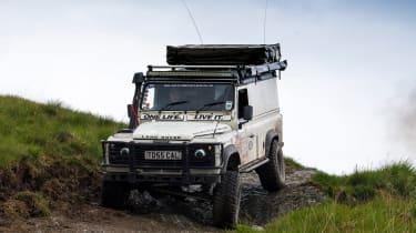 Green Laning  - Land Rover Defender descent