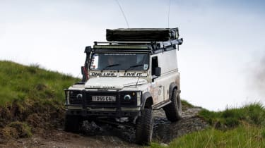 Green Laning  - Land Rover Defender descent