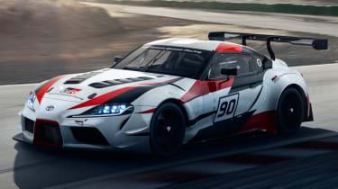 Toyota GR Supra concept on track
