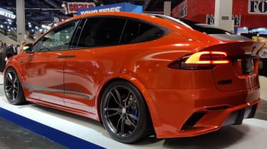 Toyo Tyres Tesla Model X SEMA 2016 show rear