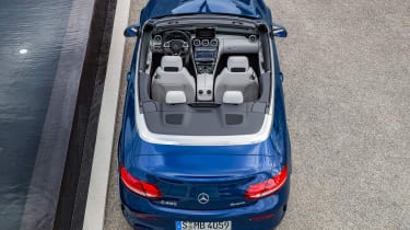 Mercedes C-Class Cabriolet - static overhead 2