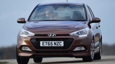 Used Hyundai i20 - front cornering