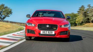 Jaguar XE front track