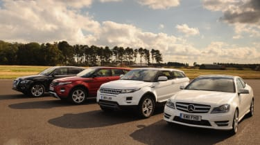 Range Rover Evoque vs rivals