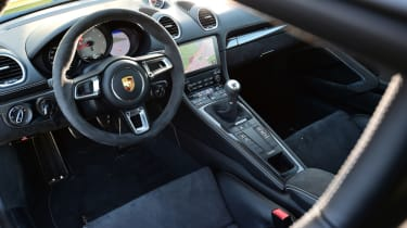 New Porsche Cayman GTS review - steering wheel