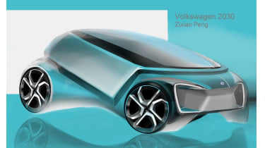 """<span id=""""docs-internal-guid-7a16583a-7fff-e600-94f7-bf7336b17051""""><span>Zixiao Peng – Zixiao's design was a Golf-sized car with a high waist and excellent visibility for maximum occupant protection with influences from the contemporar"""