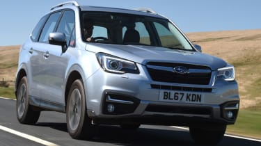 Subaru Forester driving