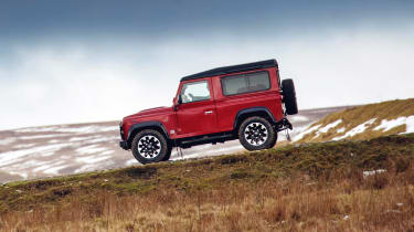 Land Rover Defender Works V8 - side action