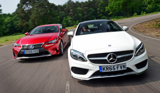Mercedes C-Class Coupe vs Lexus RC 300h - header