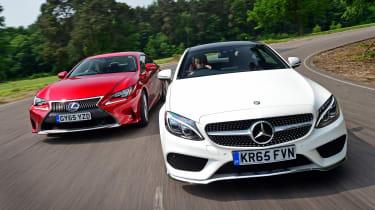 Mercedes C-Class Coupe vs Lexus RC 300h - header
