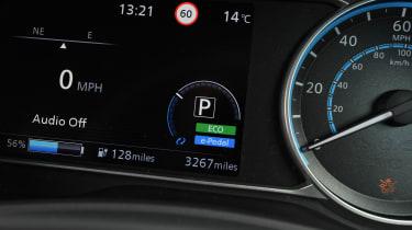 Nissan Leaf - dials detail