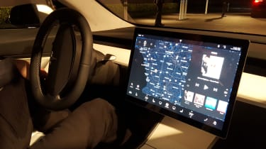 Tesla Model 3 - screen