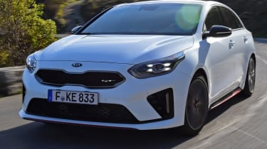 kia proceed gt prototype tracking front
