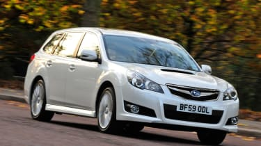 Subaru Legacy front cornering