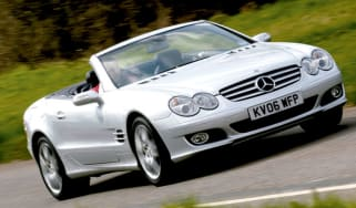 Front view of Mercedes SL500