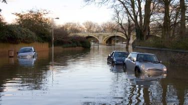 UK Floods: flooded bridge