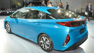 Toyota Prius Plug-in 2016 NY show rear quarter