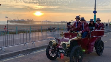 London to Brighton Veteran Car Run  -  sunset