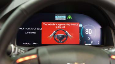 Honda autonomous car - road warning