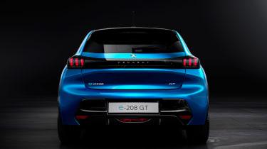 Peugeot e-208 - full rear static