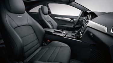 Mercedes C63 AMG Coupe interior