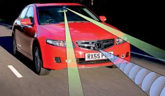 Front view of Honda Accord EX ADAS