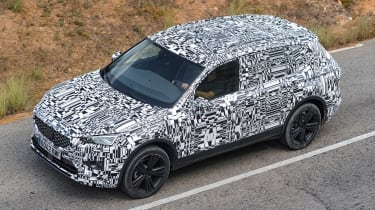 SEAT Tarraco prototype - above
