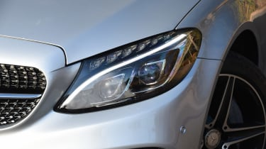 Mercedes C-Class Coupe - front light detail