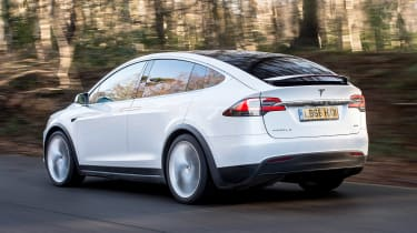 Used Tesla Model X - rear action