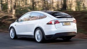 Used Tesla Model X - rear action