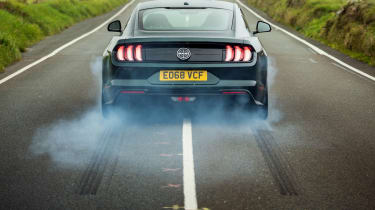 ford mustang bullitt rear burnout